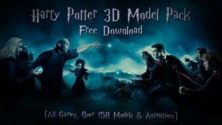 getlinkyoutube.com-Harry Potter 3D Model Pack 150+ Models/156 Animations