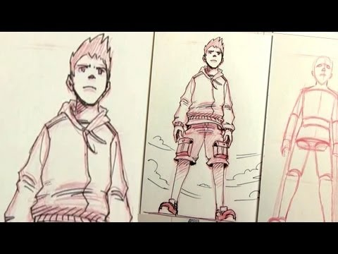 Drawing Manga Characters in Perspective: UP SHOT