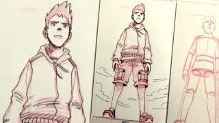 getlinkyoutube.com-How to Draw Characters in Perspective: UP SHOT