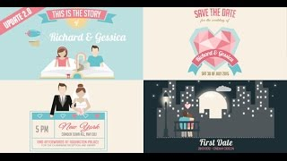 getlinkyoutube.com-Wedding Invitation And Love Story Slideshow ( After Effects Project Files)