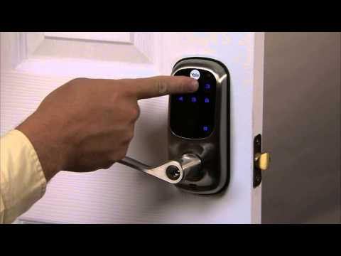 Yale Real Living Touchscreen Lever Lock Programming - Delete User PIN Code 03