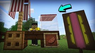 getlinkyoutube.com-COMO Hacer un PUESTO de HOT DOG en Minecraft - Rabahrex