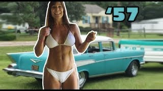 getlinkyoutube.com-57 Chevy and 50 year old Farm Girl's drive. A classic car and woman!