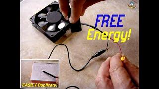 getlinkyoutube.com-FREE ENERGY Magnet Powered Case Fan/LED ~ CONFIRMED!