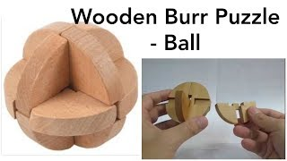 getlinkyoutube.com-Burr Puzzle (Wooden Ball) - Solution