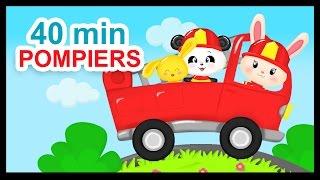 getlinkyoutube.com-Au feu les pompiers - 40 min de comptines pour les enfants - Titounis