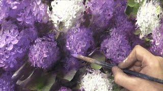 getlinkyoutube.com-Как написать сирень за 3 часа. Живопись маслом.  Painting lilac in 3 hours. Oil painting