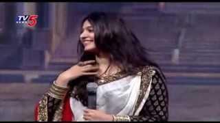 getlinkyoutube.com-Anushka Shetty Speaks at Baahubali Audio Launch | Baahubali - The Beginning | TV5 News