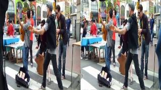Musica en el paseo San Telmo Tonimontana. 3D