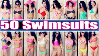 getlinkyoutube.com-50 Swimsuit Combinations!   My Swimsuit Collection 2015!