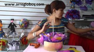 getlinkyoutube.com-Centro de mesa para Primera Comunion www.arreglobos.com