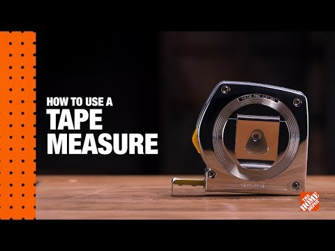 A video reviews how to read a tape measure.