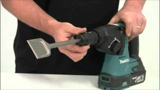 getlinkyoutube.com-Makita BHR243Z SDS Brushless Rotary Hammer Drill In Action