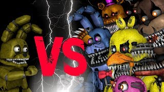 getlinkyoutube.com-Plushtrap vs Nightmare Freddy Bonnie Chica Foxy Fredbear | FNAF SFM