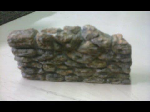 imitacion muros de piedra para maquetas