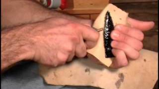 getlinkyoutube.com-Flint Knapping 101 Basics - Pressure Flaking Indian Style Final