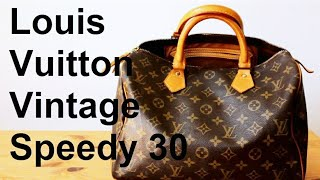 getlinkyoutube.com-Louis Vuitton Preloved Vintage Speedy 30 | YUNIQ Today