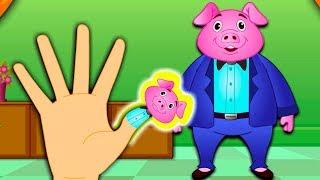getlinkyoutube.com-The Finger Family Pig Family Nursery Rhyme | Kids Animation Rhymes Songs