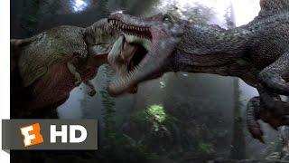 Jurassic Park 3 (3/10) Movie CLIP - Spinosaurus vs. T-Rex (2001) HD