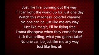 getlinkyoutube.com-Pink - Just Like Fire (Lyrics)