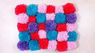 getlinkyoutube.com-Cómo hacer una alfombra de pompones (Tutorial DIY)