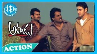 getlinkyoutube.com-Athadu Best Action Scene - Mahesh Babu, Tanikella Bharani