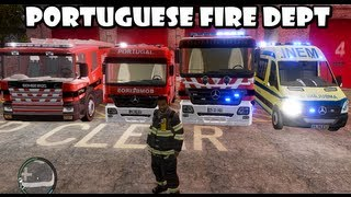 getlinkyoutube.com-GTA IV - Portuguese Fire Dept responding to a warehouse fire / Bombeiros Portugueses