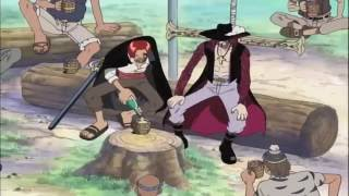 getlinkyoutube.com-One Piece: Shanks reacts to Luffy's bounty English Dubbed