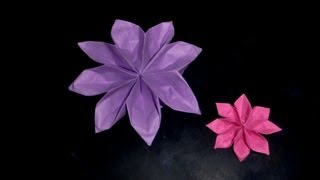 getlinkyoutube.com-Origami Dahlie: Dahlia - Tutorial [HD]