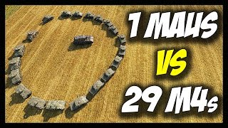 getlinkyoutube.com-► World of Tanks: 1 Maus vs 29 M4 Shermans - Jumping, Drowning, Killing! - Face Off #10