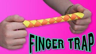 getlinkyoutube.com-DIY FINGER TRAP?! - Make your own ORIGAMI finger trap?!