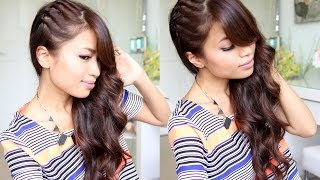 getlinkyoutube.com-Twisted Side Swept Hairstyle feat. NuMe Lustrum Curling Wand