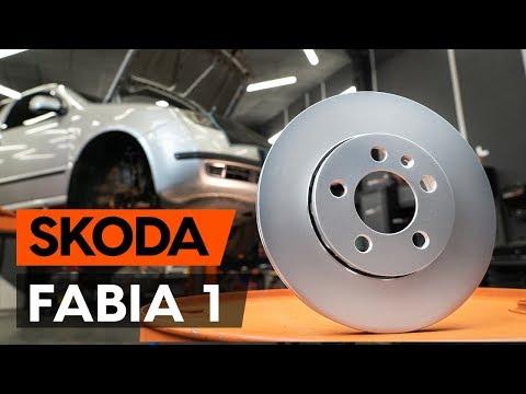 Как заменить передние тормозные диски наSKODA FABIA 1 (6Y5)(ВИДЕОУРОК AUTODOC)