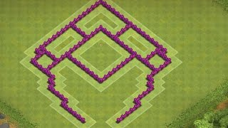 getlinkyoutube.com-Clash Of Clans - Layout Híbrido / Troféu Base CV 6 (2015)