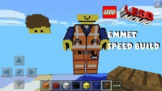 getlinkyoutube.com-Emmet The Lego Movie Pixel Art Minecraft Pocket Edition