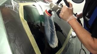 getlinkyoutube.com-Polerowania szyby samochodowej - tlenek ceru test