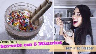 getlinkyoutube.com-Como Fazer Sorvete Caseiro em 5 minutos sem Congelador mt Fácil   Receitas