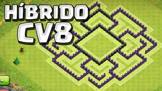 getlinkyoutube.com-MELHOR LAYOUT HíBRIDO PARA CV8 - CLASH OF CLANS