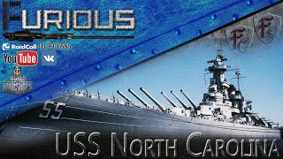 getlinkyoutube.com-USS North Carolina. Королева Севера / World of Warships /