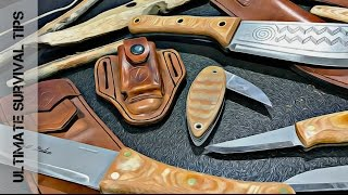NEW! 5 Primitive / Survival Knives You Need to See + Buschcraft / Bow Drill Folder - Condor
