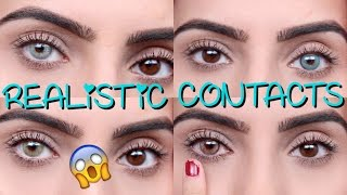 getlinkyoutube.com-Coloured Contacts For DARK EYES | Solotica