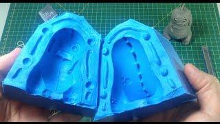 getlinkyoutube.com-Como fazer molde de silicone com duas metades (bipartido)