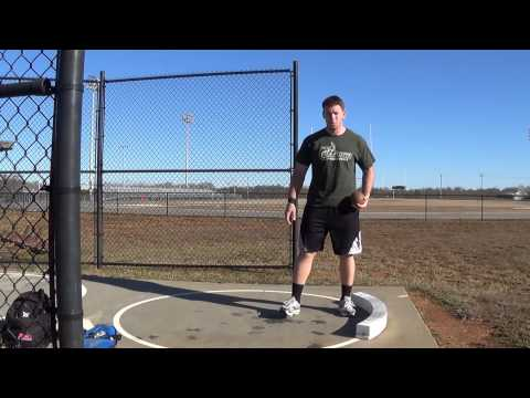 Shot Put Drills, Stand Throw, Part 3 of 3 (Loud Background Wind)