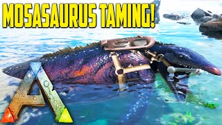 Ark Survival Evolved Ep24 - MOSASAURUS TAMING!! - Ark New Creatures Update Gameplay