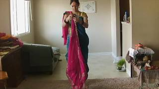 getlinkyoutube.com-How to wrap saree in Dhoti style with dupatta