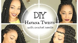 getlinkyoutube.com-DIY Havana Twists || With Crochet Needle || Janet Collection || Mambo Twists