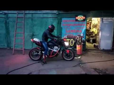 Kawasaki z750 жжет резину часть 1