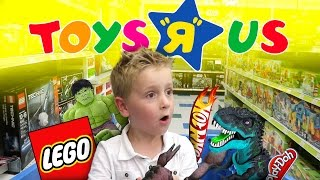 getlinkyoutube.com-Toys R Us Shopping and Toy Haul for LEGO, Play-Doh, Superheroes & Angry Birds Toys | KIDCITY