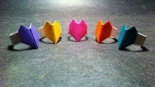 getlinkyoutube.com-Origami Heart Ring