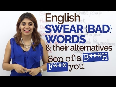 English Swear words/Bad words & their alternatives - Spoken English lesson | Speak English fluently